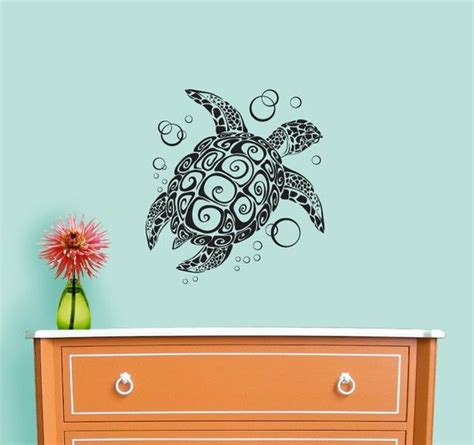 turtle wall stickers sea turtle wall decal crafty