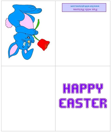 printable quarter fold easter cards printable easter cards and free easter greeting cards from