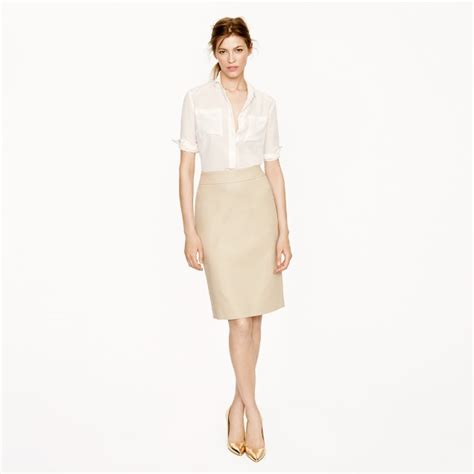 pencil skirt in superfine cotton j crew