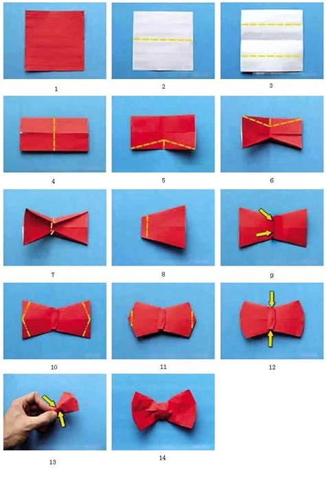 Easy Origami Bow Tie - how to fold an origami bow tie