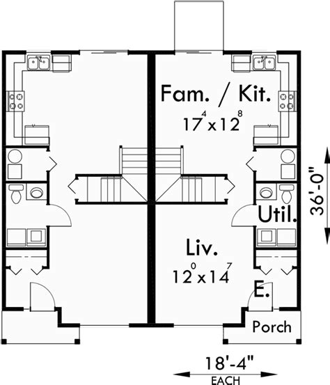 duplex 3 bedroom duplex house plans narrow duplex house plans 3 bedroom d 358