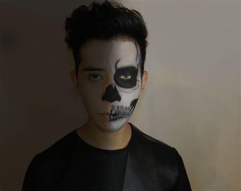 imagenes de maquillaje para halloween hombres maquillaje para hombre halloween skeleton makeup tutorial