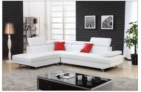 White Sectional Sofa With Chaise Leather Sectional L White Leather L Shaped Sofa