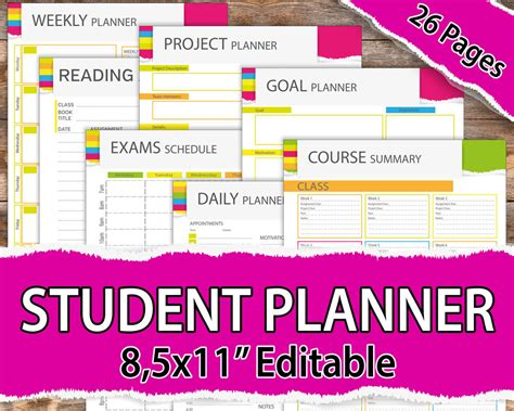 free printable planners for college students college student planner 2017 2018 student planner 2017 2018
