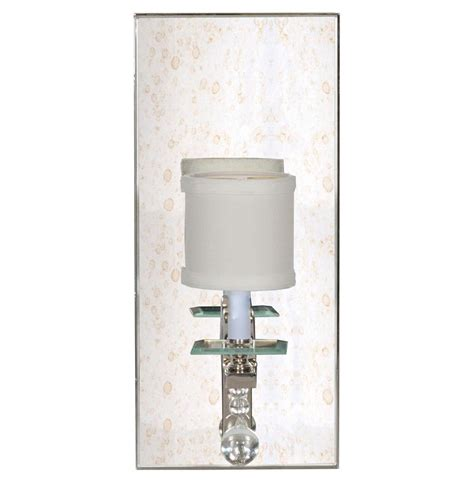 Mirrored Wall Sconce Bishop Regency Silver Mirrored Wall Sconce Kathy Kuo Home