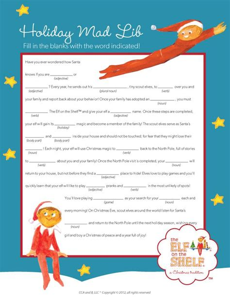 printable magic elf story 17 best images about holidays christmas elf on a shelf