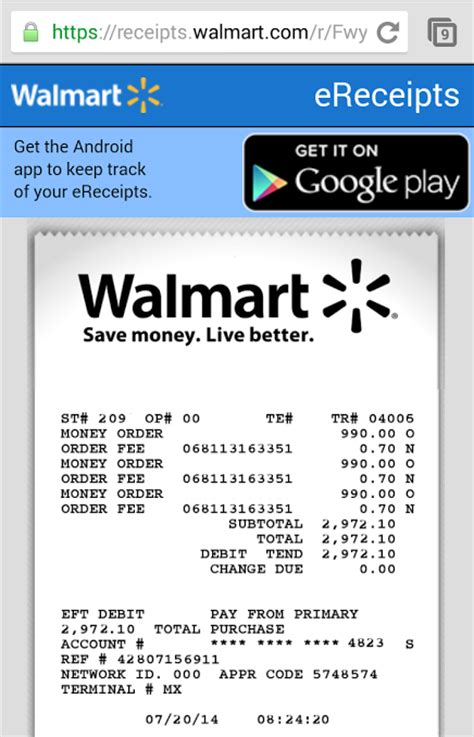 walmart receipts templates new walmart ereceipts help keep track of spending should