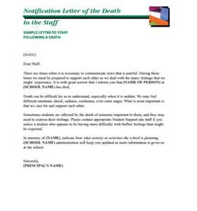 employee death announcement letter archives sample letter