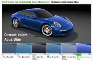 Porsche Blue Colors Porsche Fetes 5m Fans Via Customized 911