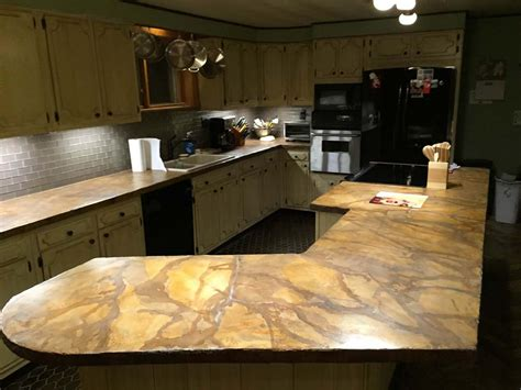 Acid Stain Concrete Countertop by Concrete Countertop Projects Direct Colors Inc