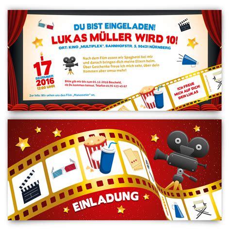 Kostenlose Vorlagen Ebay Einladungskarten Kindergeburtstag Kino Ticket Motiv Einladung Ebay