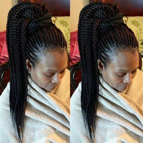 cornrows with senegalese twists ghana weaving rope twists senegalese twists