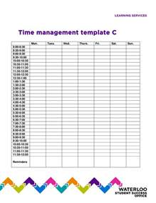 Management Templates by Time Management Template Vertola