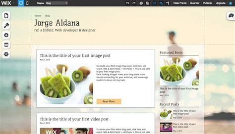 wix una alternativa real  crear tu sitio web gra frogx