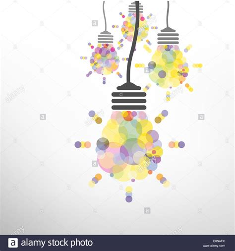 design concept background creative light bulb idea concept background design for