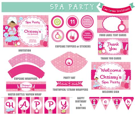 9 Best Images Of Spa Party Free Printables Free Printable Spa Birthday Party Invitations Spa Free Printable Spa Invitations Templates