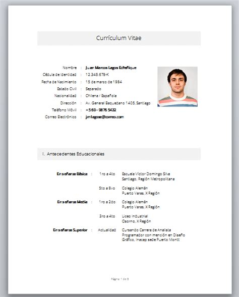 Curriculum Vitae Modelo Para Llenar Word Machote De Curriculum Sencillo Apexwallpapers