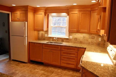maple cabinets with granite countertop for newly remodeled