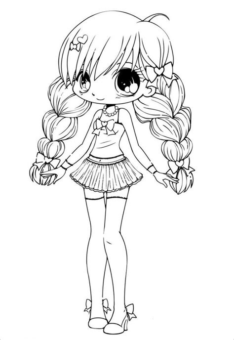 girl template coloring page chibi template free premium templates