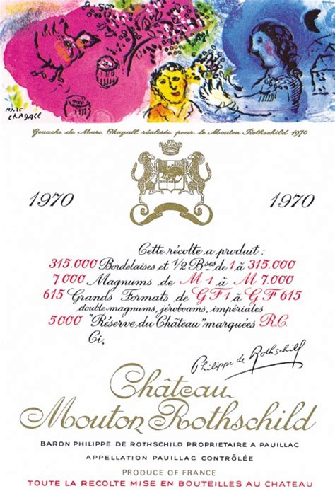 ch 226 teau mouton rothschild the labels room mouton rothschild 1970 marc chagall