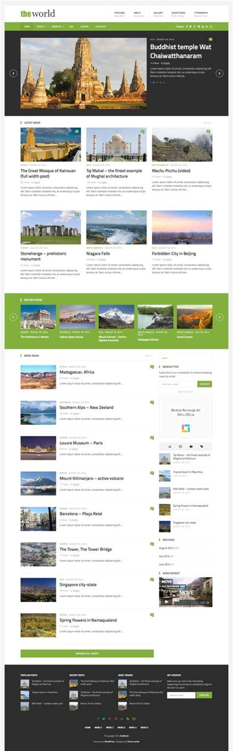 wordpress homepage layout manager 40 best magazine wordpress themes 2017
