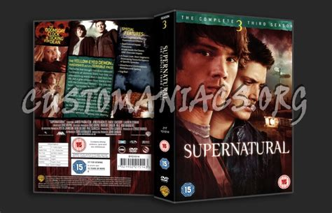 Dvd Supernatural Season 3 supernatural season 3 dvd cover dvd covers labels by customaniacs id 48103 free