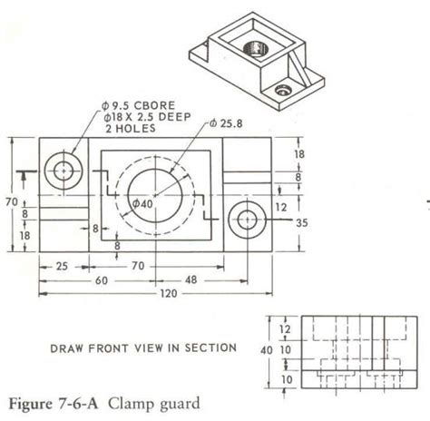 dimensioning and sectioning in engineering drawing see the fundamentals of engineering graphics textbook
