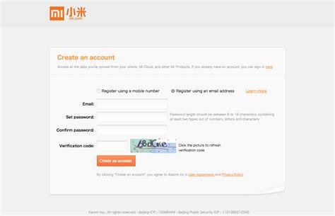 cara buat akun mi cloud dan mitalk bagi pengguna produk gagal membuat akun xiaomi cara membuat mi account mi cloud
