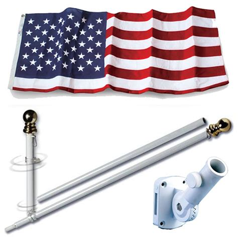 U S Outdoor Flags Sets U S Flag Set 3 X 5 Embroidered Polyester Flag And 7