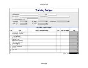 Training Budget Template Training Budget Excel Template Hashdoc