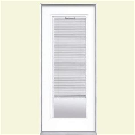 Home Depot Door Blinds by Masonite 32 In X 80 In Mini Blind Painted Steel Prehung