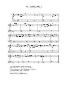 Partituras Musicais: Não há Deus Maior - n.º 335 em 2020