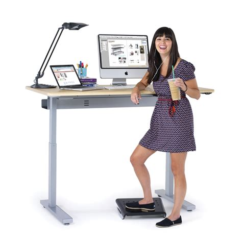 desk stand electric standing desks powered stand up desks from anthro
