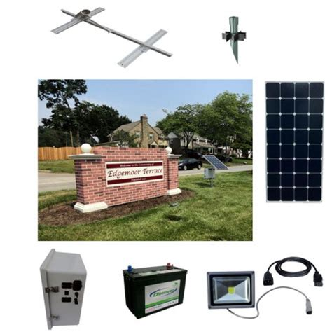 Solar Sign Light Kit 1 Sun In One Solar Powered Sign Lighting