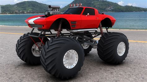 Monster truck monster truck trucks 4x4 wheel wheels