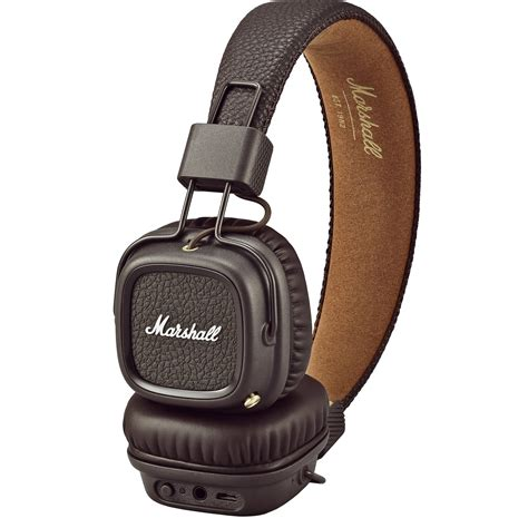 Marshall Major 2 On Ear Headphones Hitam marshall audio major ii bluetooth headphones brown