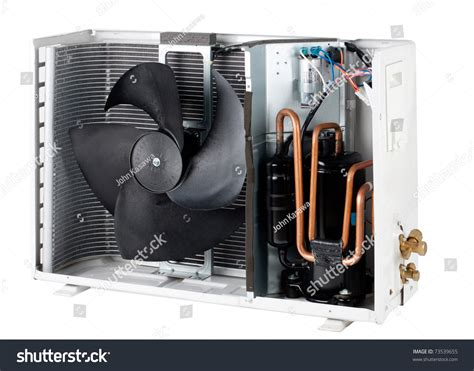 video of ac section cross section interior air condition condenser stock photo