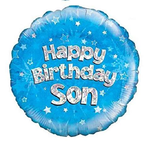 Balon Foil Besar Uk 45cm happy birthday blue holographic foil balloon 45cm 18