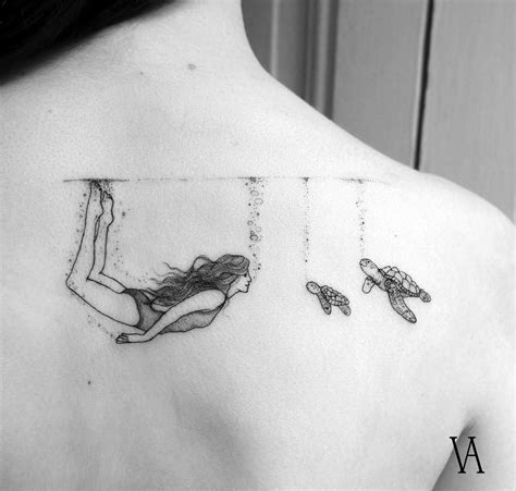 swimming tattoo designs aquatic best design ideas