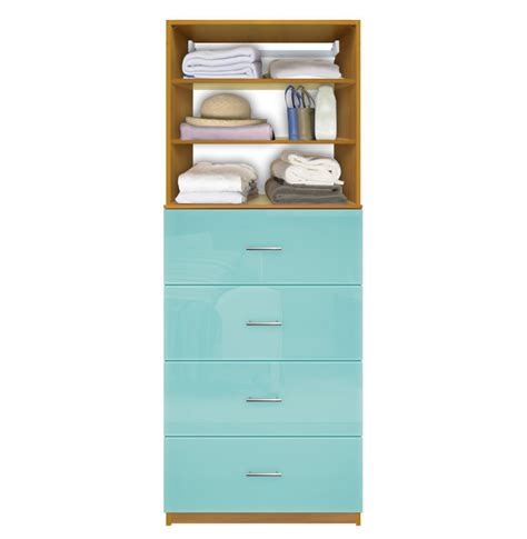 Isa Closet Drawer System   4 Deep Drawers, Adjustable Shelves   Contempo Space