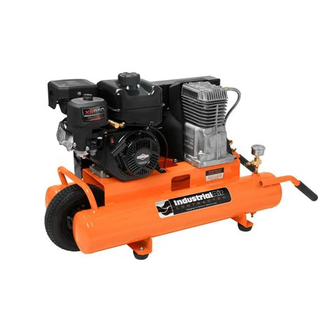 industrial air 8 gal portable wheelbarrow air compressor with 6 hp subaru gas engine ct5590816