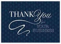 thank you for your business greeting cards up to 50