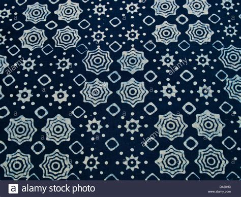 batik pattern background blue batik fabric with repetition pattern as background