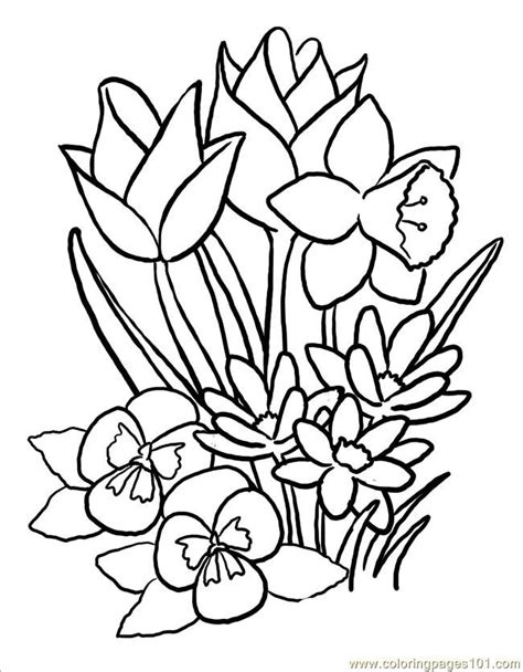printable springtime flowers spring flower coloring page az coloring pages