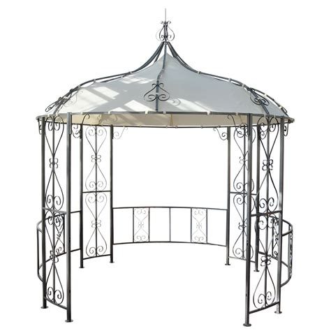 pavillon oben pergola almeria rundpavillon garten pavillon stabiles