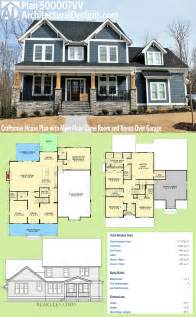 Plan 500007vv Craftsman House Plan With Main Floor Game Small House Plans With Bonus Room Garage