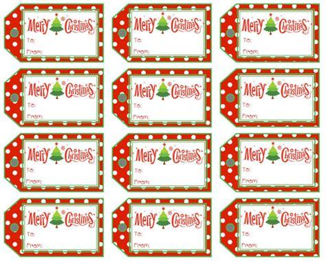 christmas gift tags merry christmas polka dot and stripe