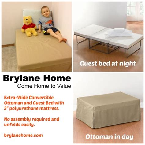 Ottoman That Makes Into A Bed Brylane Home Convertible Ottoman A Bed In Disguise Family Centsability