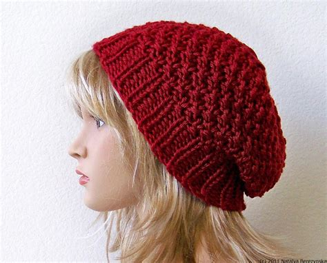 how to knit a hat slouchy beanie hat slouch beanie hat by natalya1905 craftsy