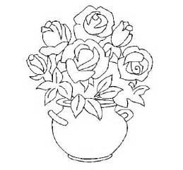coloriage de vase de fleurs pour colorier coloritou